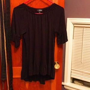 Shirt Black three quarter length sleeves